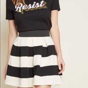 ModCloth Black and White Stripped Skirt